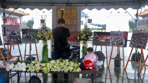 台灣點亮六四燭光 自由廣場悼念活動遭人砸場