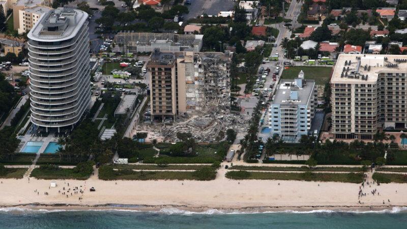 迈阿密海景第一排公寓 如爆破般崩坍99人恐活埋
