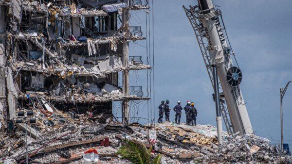 美佛州大楼坍塌已确认9人遇难 仍有156人失踪
