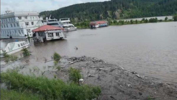 黑龙江洪水来袭  民众: 没见过这么大的水