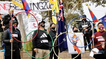 澳洲各族裔团体集会 抵制北京冬奥会