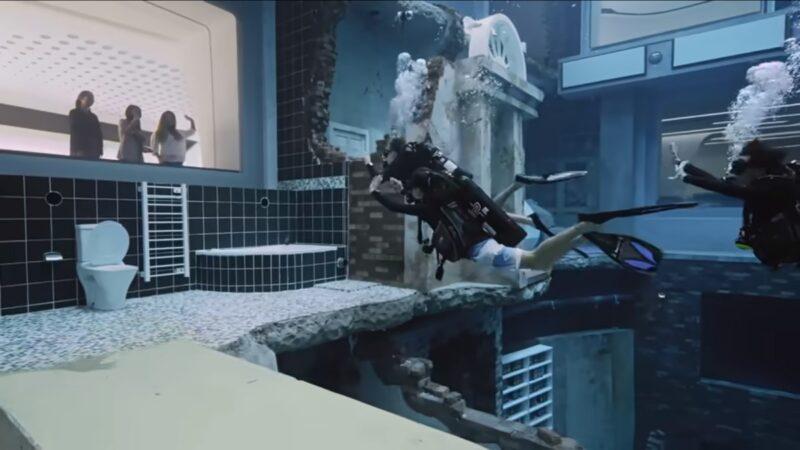廸拜打造60米深「水底城市」  可打撞球拍電影(視頻)