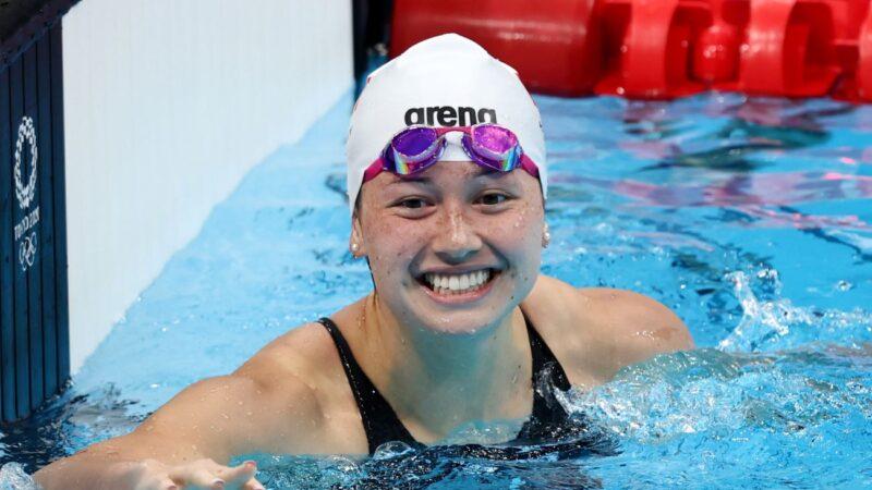 """香港""""女飞鱼""""何诗蓓200米自由泳夺得银牌"""