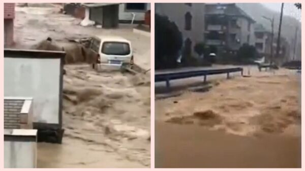 颱風「烟花」提前登陸 村民: 30年沒見過這麼大洪水