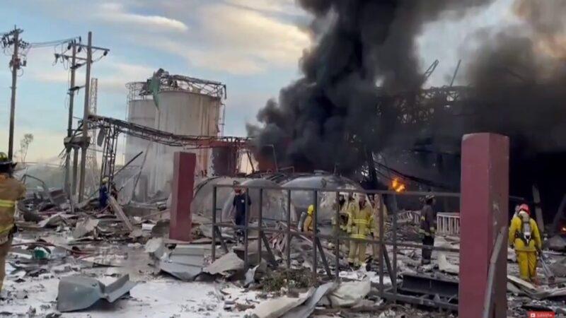泰国北榄台资工厂大爆炸 70栋房屋遭毁逾20伤