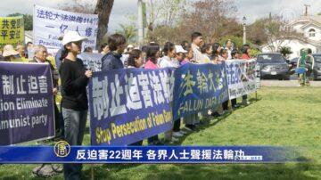 反迫害22週年 各界人士聲援法輪功