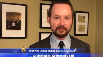 加拿大保守党国会议员 Michael Cooper  声援反迫害