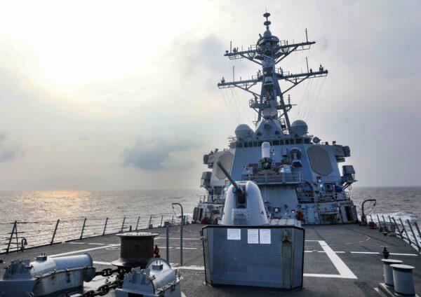 开放印太承诺 美国军舰今年第7次通过台湾海峡