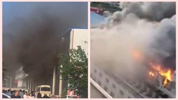 吉林仓库突发火灾 有人穿礼服跳楼 已致14死26伤