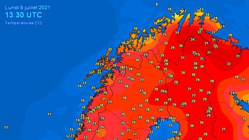 北歐驚人熱浪 芬蘭挪威飆出攝氏近34度高溫
