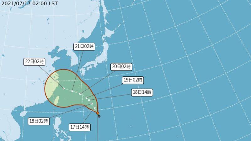台风烟花最快今晚生成 22日最靠近台湾或直奔浙江