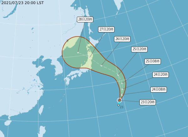台风尼伯特生成 往日本前进 或影响东奥赛事