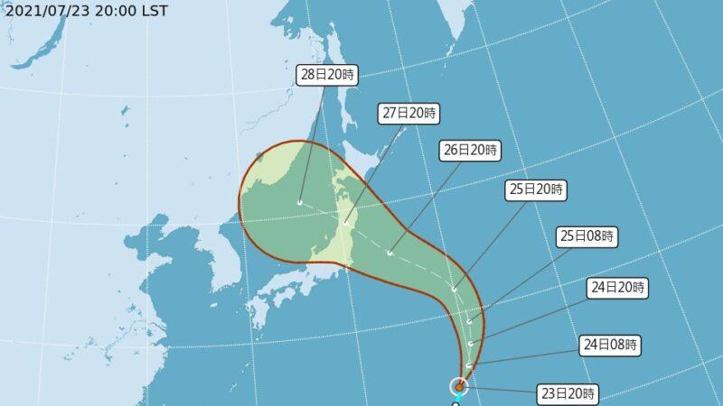 颱風尼伯特生成 往日本前進 或影響東奧賽事