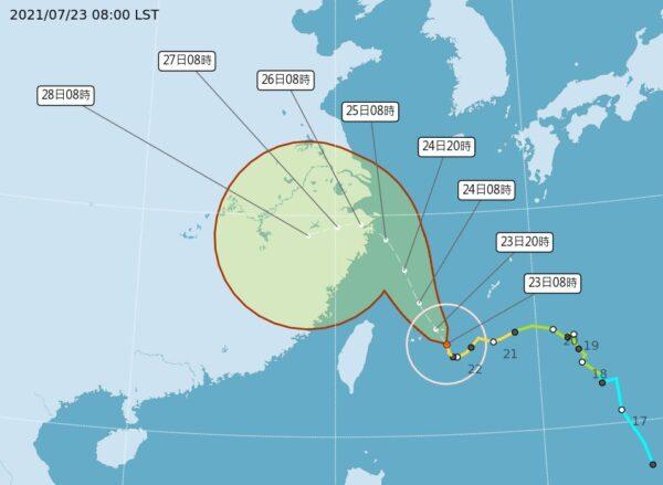 台风烟花加快且北转 台9县市豪大雨特报
