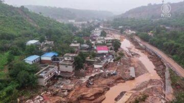 河南鄭州洪災 一村落至少23人失蹤死亡