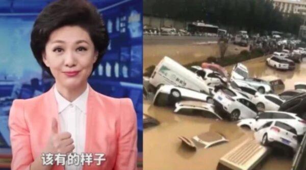 """央视赞""""防灾得宜""""对应郑州洪灾引嘲讽"""