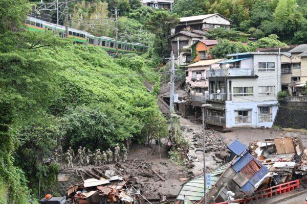 日本热海市大规模土石流 已知3死80人失联