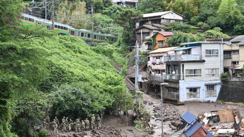 日本熱海市大規模土石流 已知3死80人失聯