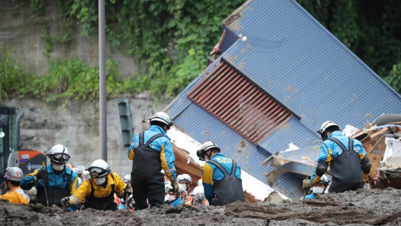 日本熱海土石流傳2人獲救 累計5死29失聯