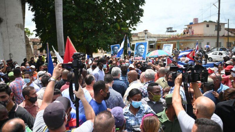 罕見古巴人上街頭抗議  高呼「獨裁下台」