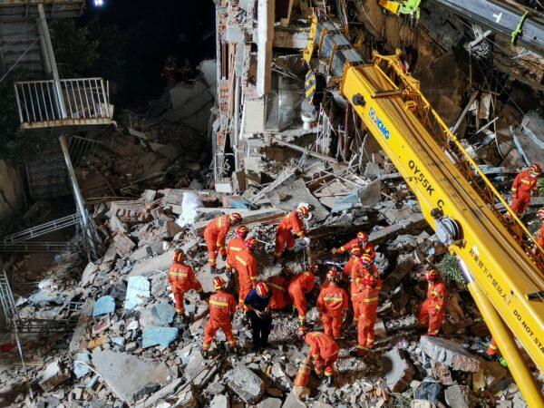 慘!蘇州酒店坍塌17人死 牆體3年前已裂縫