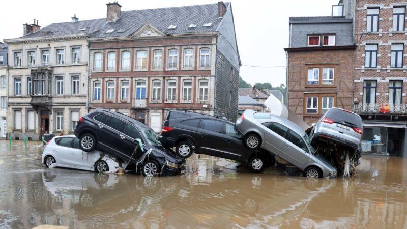 比利時罕見豪雨成災 數千房屋受損(組圖)