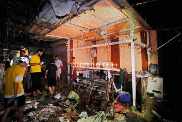 熱鬧市集引爆炸彈 巴格達至少35人喪生(組圖)