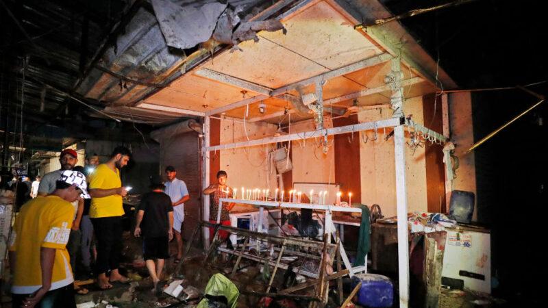 热闹市集引爆炸弹 巴格达至少35人丧生(组图)