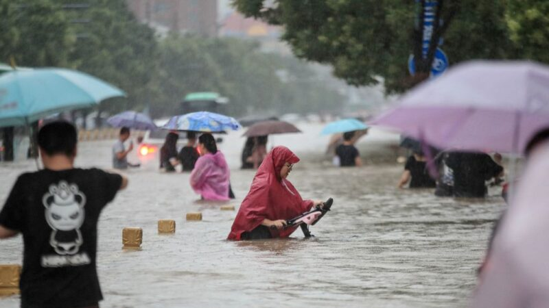 水淹地鐵5號線 河南女主持人求救視頻曝光