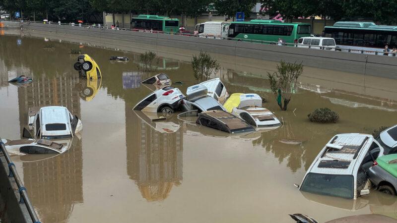 河南暴雨至少56死757万人受灾 京广路隧道拖出逾200辆车