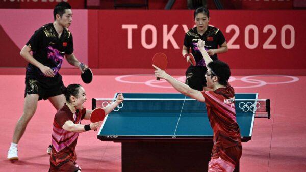 中國乒乓球混雙爆冷敗北 央視提前「炫金」出醜