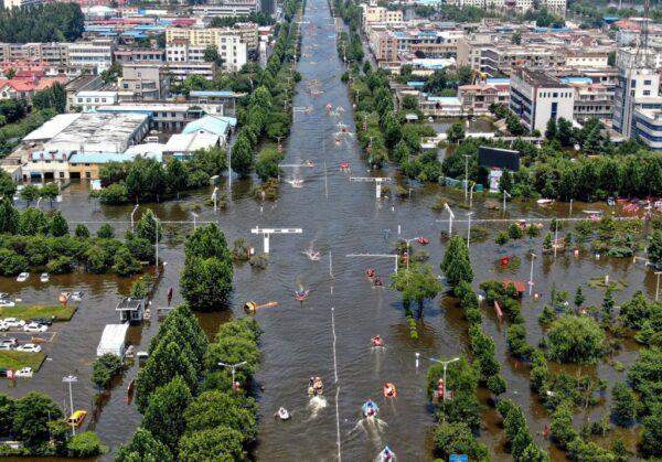 河南卫辉市成水中孤城 60万人大逃难