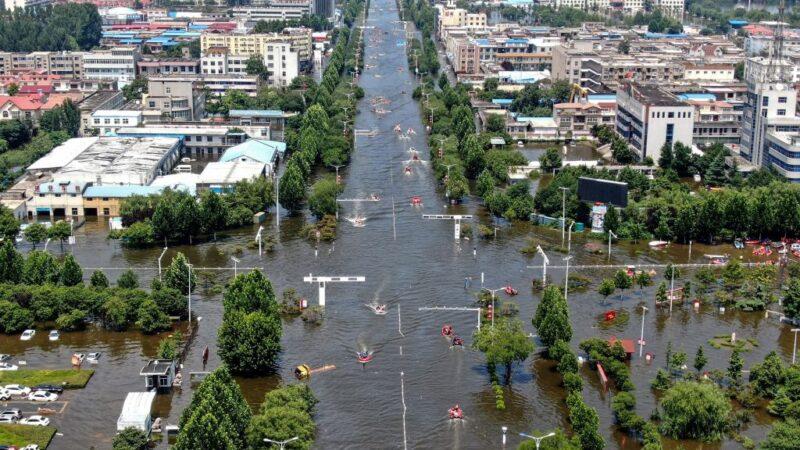 河南衛輝市成水中孤城 60萬人大逃難