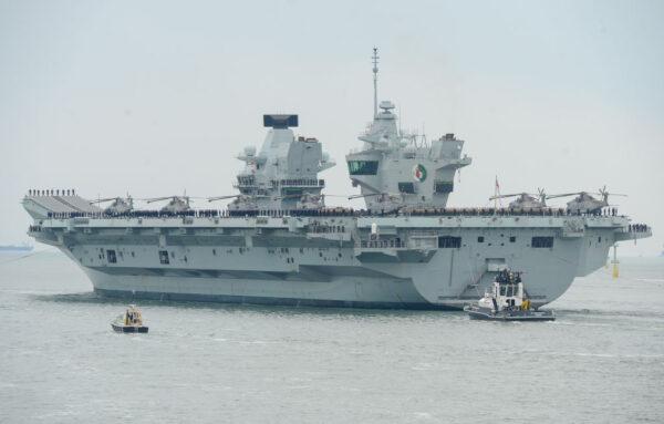 """派赴亚洲巡航 英航母""""伊丽莎白女王号""""百人染疫"""