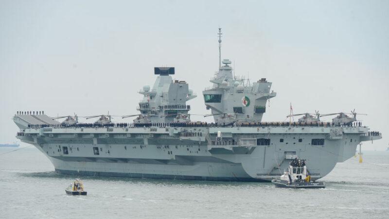 派赴亞洲巡航 英航母「伊麗莎白女王號」百人染疫