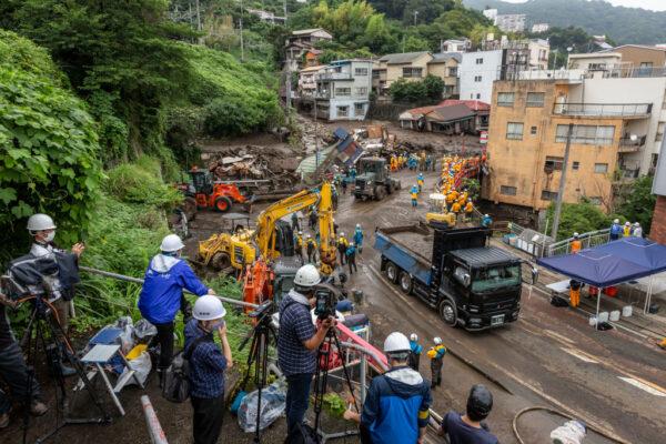 日本熱海土石流 黃金救援72小時將至 29人仍失聯