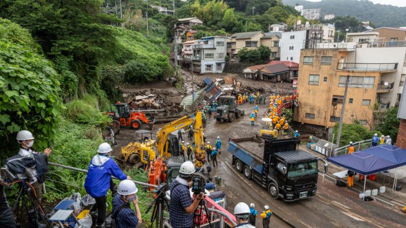 日本热海土石流 黄金救援72小时将至 29人仍失联