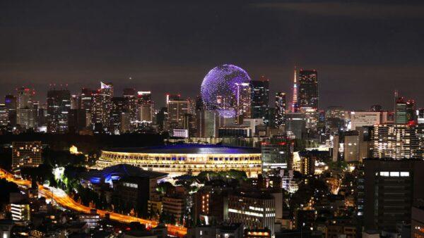 东京奥运开幕式 1,824架无人机组成蓝色地球