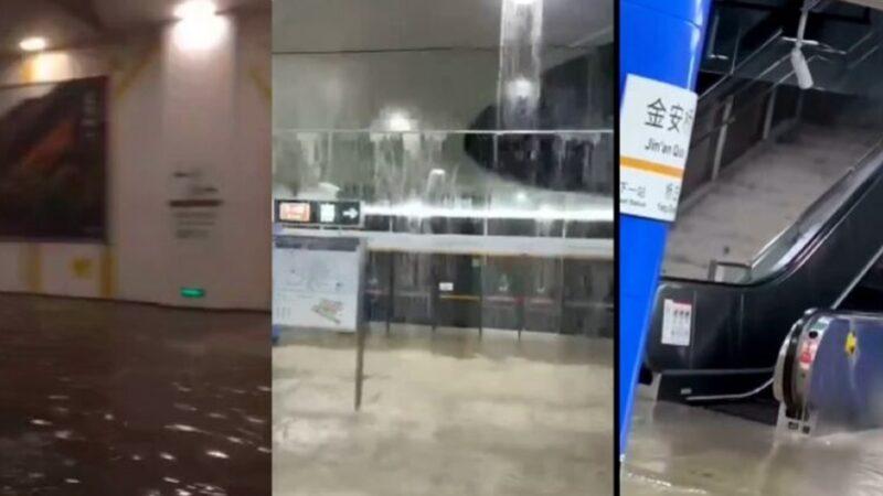 北京大暴雨 地鐵被淹百餘航班取消 連發多預警