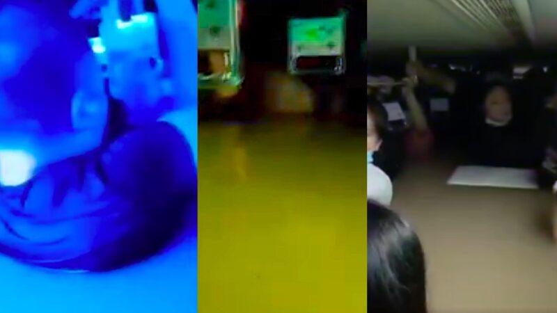 水快到脖子!求救!鄭州大批民眾被困地鐵車廂(視頻)