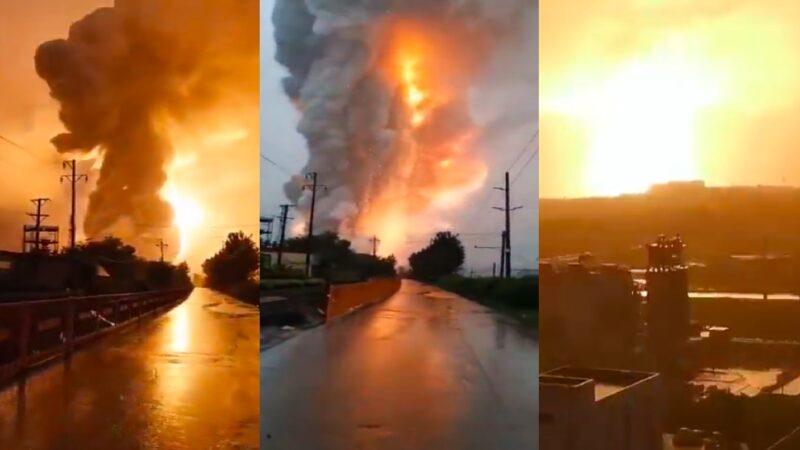 巨響伴火光 河南登封鋁廠爆炸 騰起蘑菇雲(視頻)