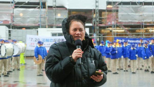 新西兰国会议员出席法轮功720反迫害集会