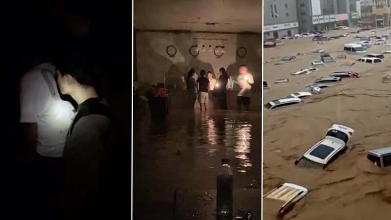 鄭州大水百家租戶被攆出門 困高架橋下艱難自救