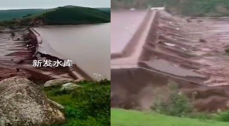 内蒙古两水库垮坝 近2万人受灾 22座桥被毁