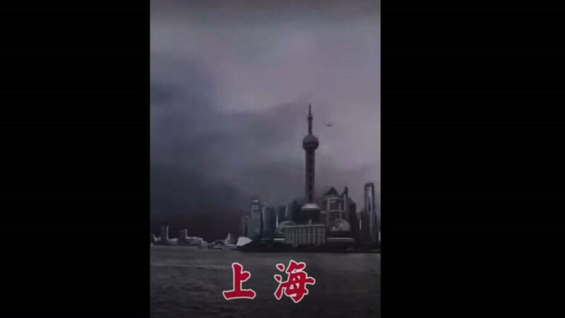 上海記者室外播報颱風登陸 「嘶吼」模式熱傳(視頻)