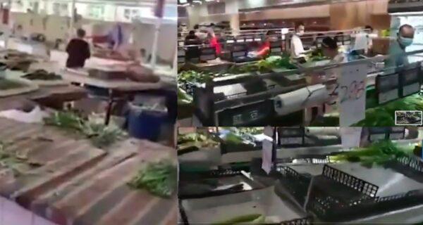 成都两地升中风险区 当地菜、肉被抢购一空(视频)