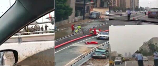 武警封鎖鄭州隧道 疑動用 大巴車清理屍體