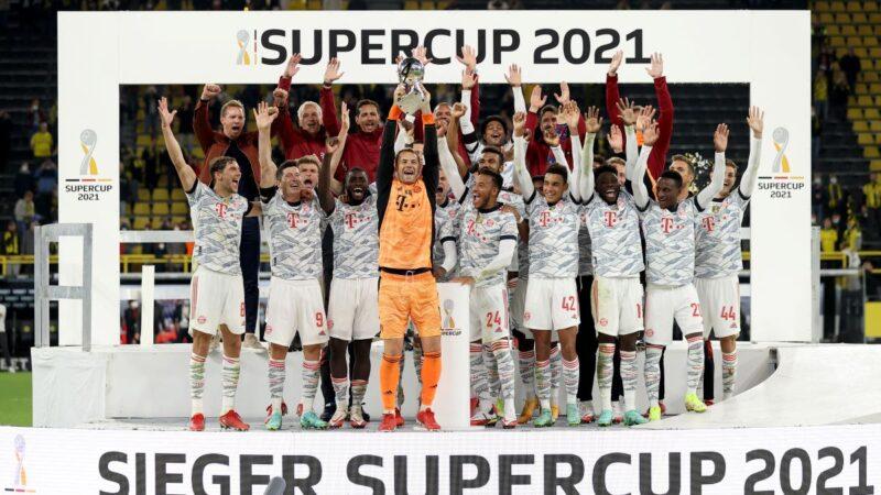 拜仁慕尼黑击败多特蒙德 5年4夺德国超级杯