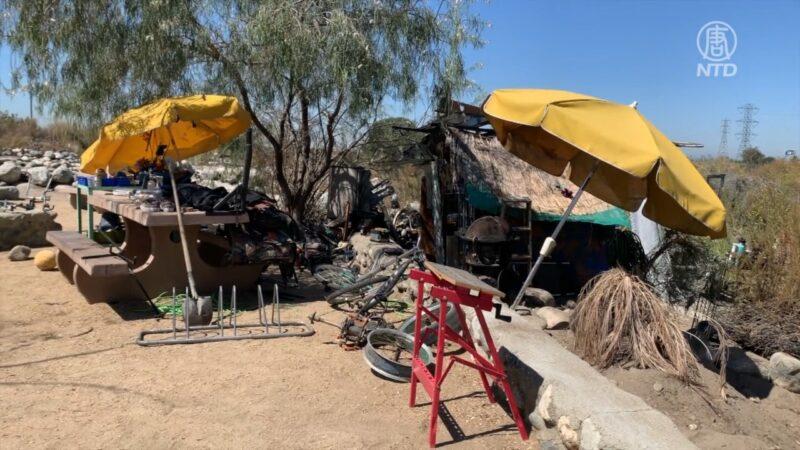 南加公园恶臭熏天 警方清除游民帐篷
