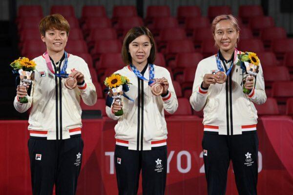 香港隊女乒團勇奪銅牌 3:1擊敗德國
